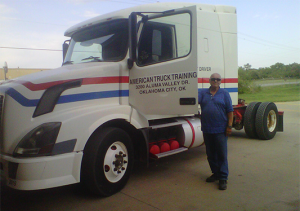 american truck training driving with truck