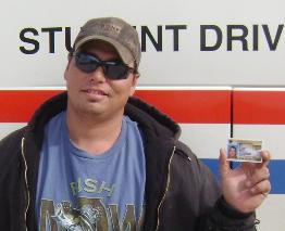 american truck training student